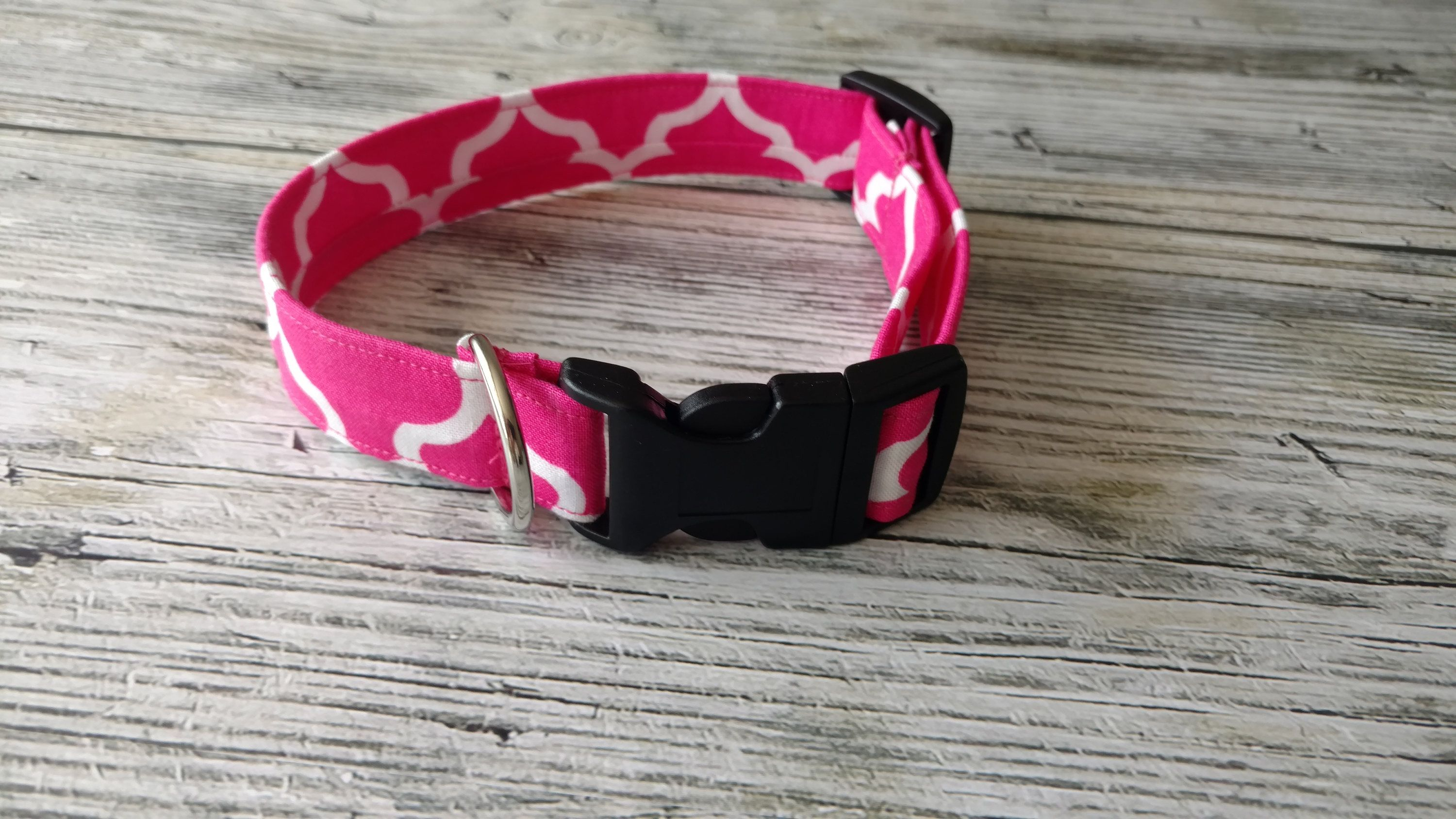 Pink and white dog collar adjustable puppy collar summer collar pink and white dog collar adjustable puppy collar summer collar girl dog collar pink flower dog collar dhlflorist Choice Image