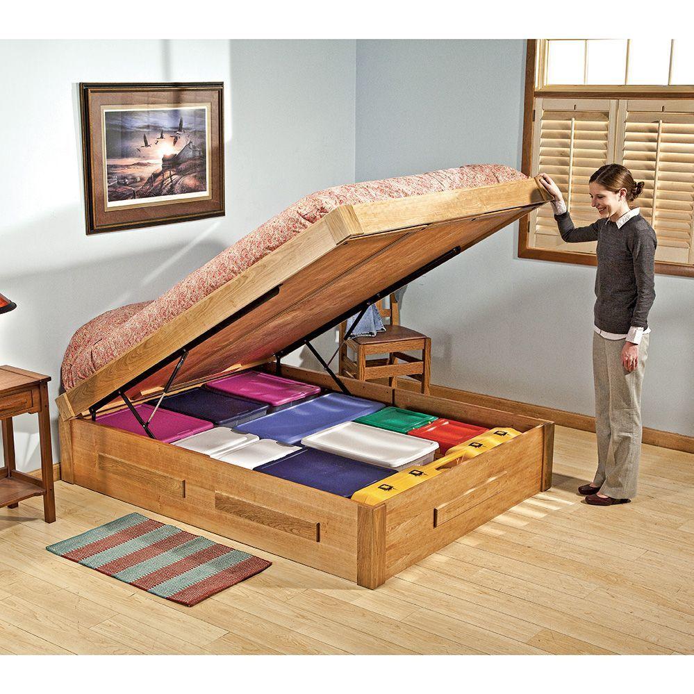 Platform Bed Lift Mechanism Diy platform bed, Bed