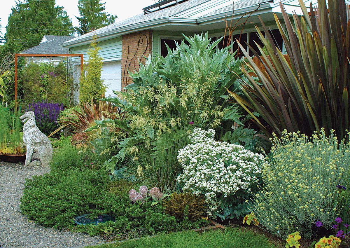 Creating A Scene Finegardening In 2020 Backyard Garden Design Backyard Landscaping Designs Garden Yard Ideas