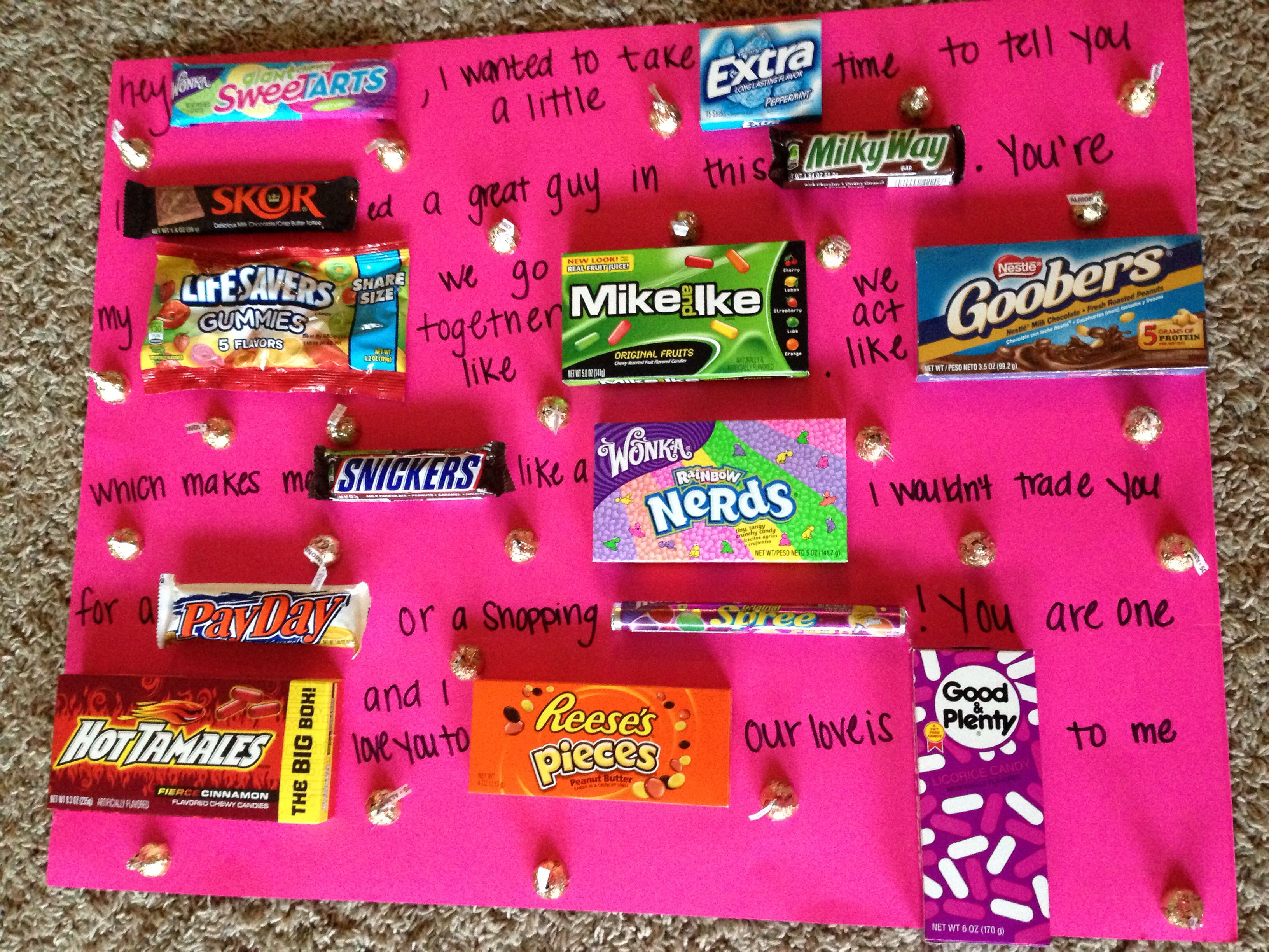 Diy candy bar tree fabulous gift idea for b days for Whats a good birthday gift for my boyfriend