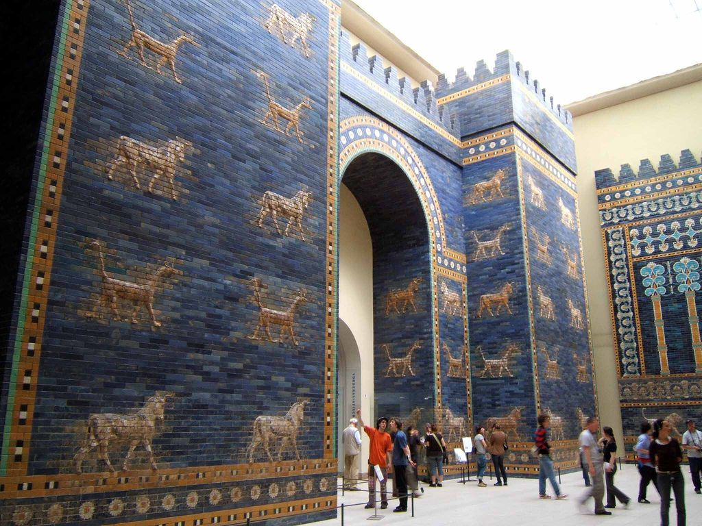 Ishtar Gate Babylon At The Pergamon Museum In Berlin Photo By Rictor Norton The Tiles Were Found In Hundreds Of Thous Gate Of Babylon Ancient Babylon Ishtar