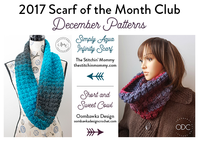 2017 Scarf of the Month Club - December Crochet Patterns | crochet ...