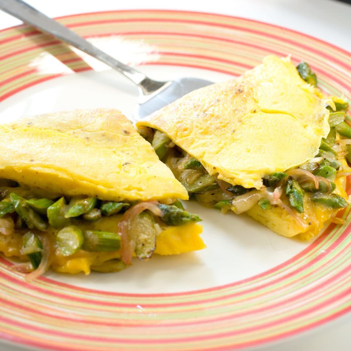 Asparagus omelet breakfast brunch recipes vegetable