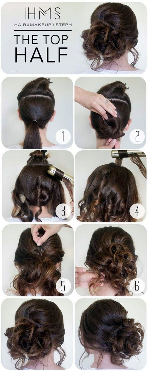 quick hairstyle tutorials for office women Beauty Pinterest
