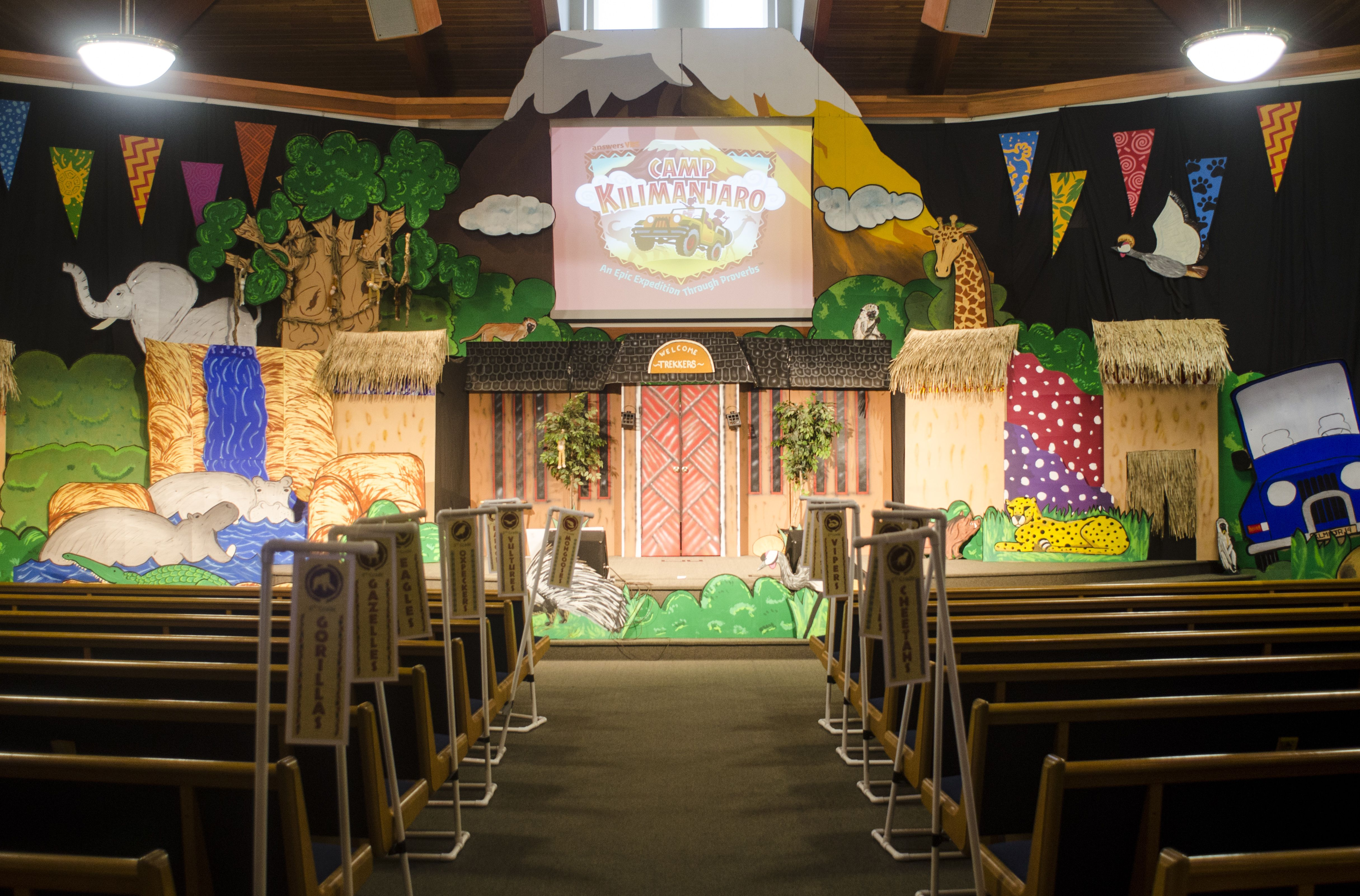 Assembly Set For Campkilimanjaro At A Mid Size Church