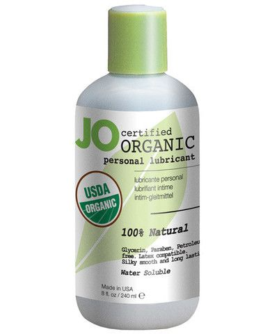 System Jo Usda Certified Organic Waterbased Lubricant 8 Oz