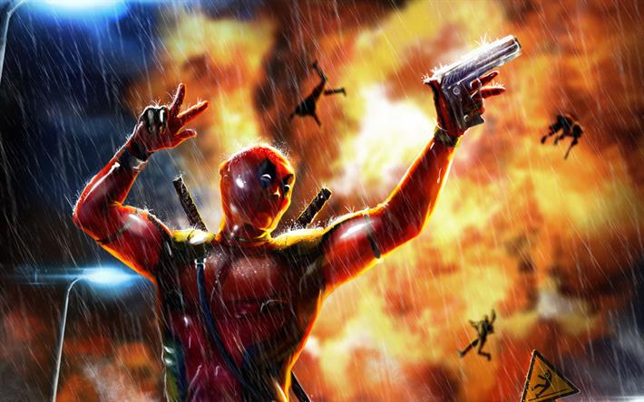 Fondos De Pantalla De Deadpool: Descargar Fondos De Pantalla Deadpool 2, Arma De Fuego