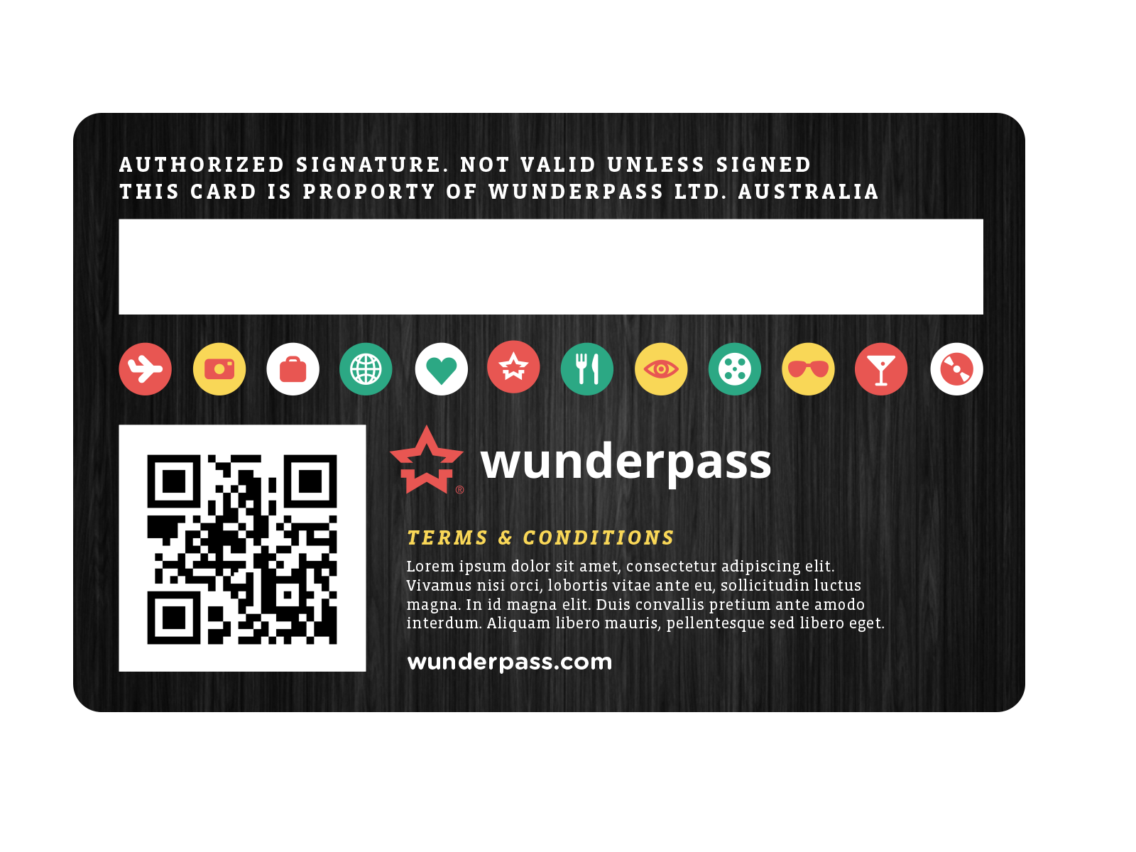Wunderpass_membership_card_backside  Design  Vip card