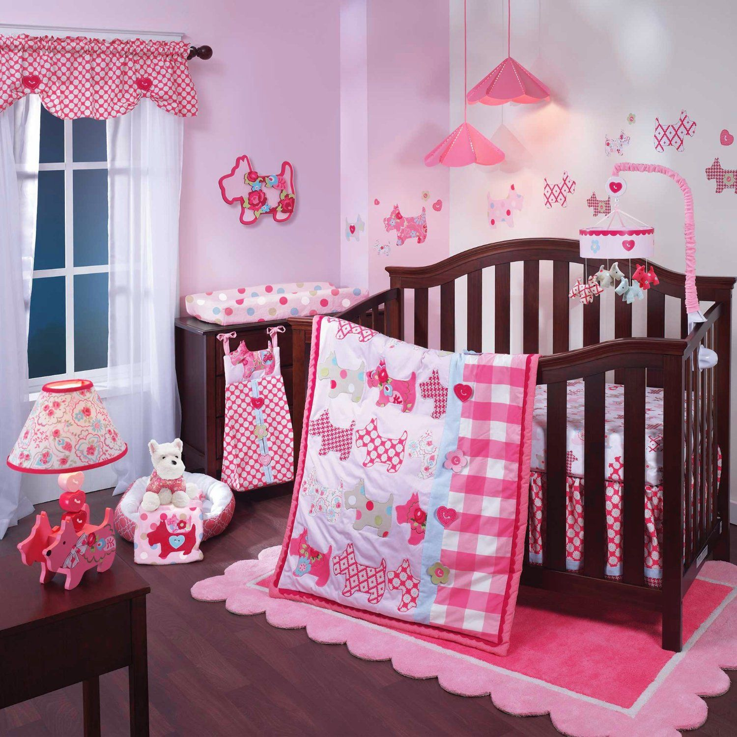 Puppy Tales 5 Piece Baby Crib Bedding Set with Bumper by Lambs & Ivy - Amazon.com :