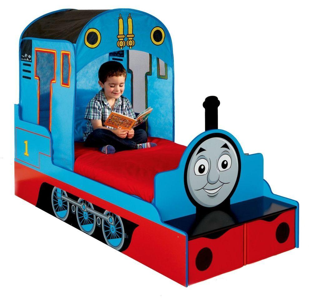 Thomas The Tank Engine Toddler Bed.Thomas Tank Toddler Bed Storage Drawer Bench Sleep Kids