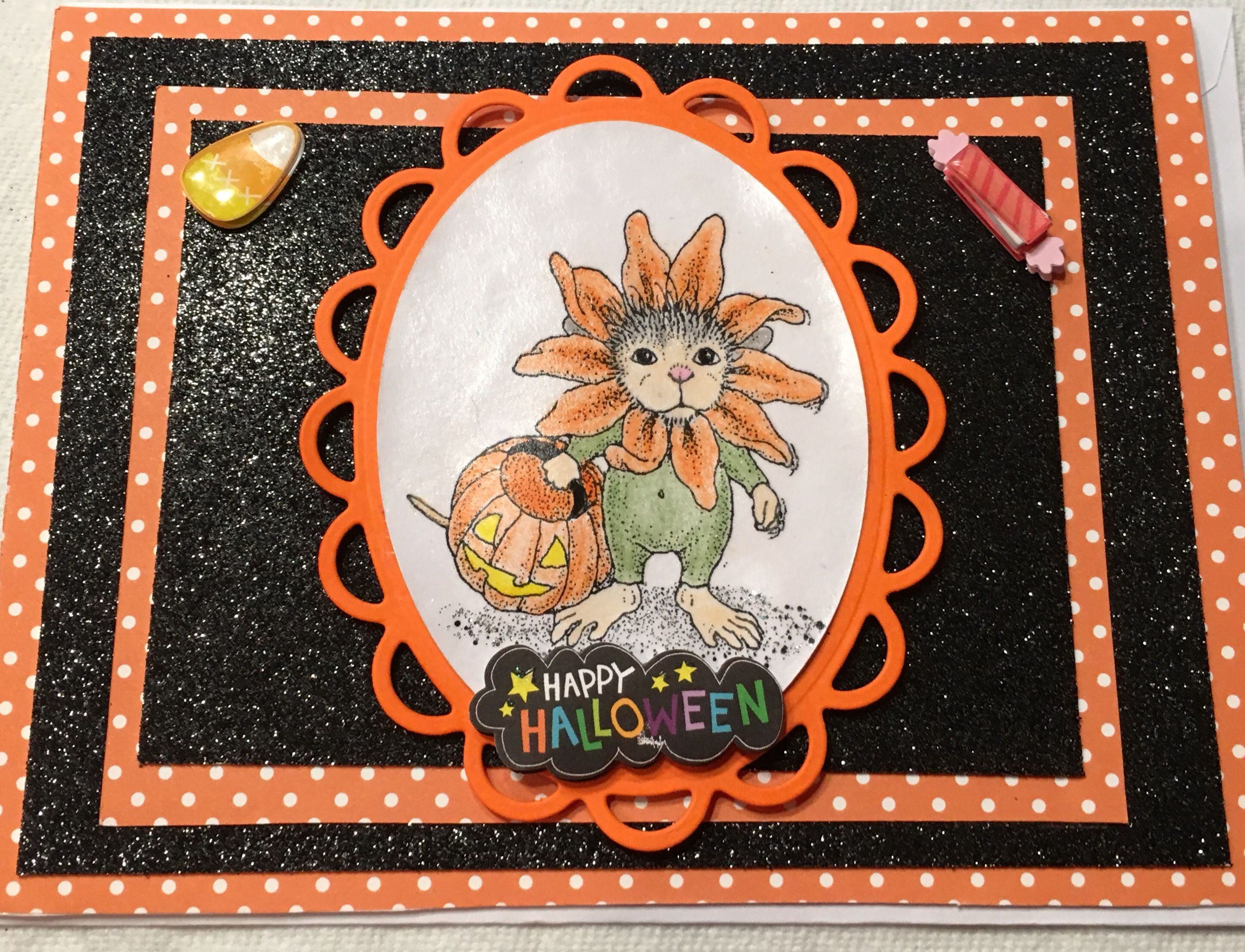 House mouse halloween card handmade greeting cards pinterest house mouse halloween card kristyandbryce Images