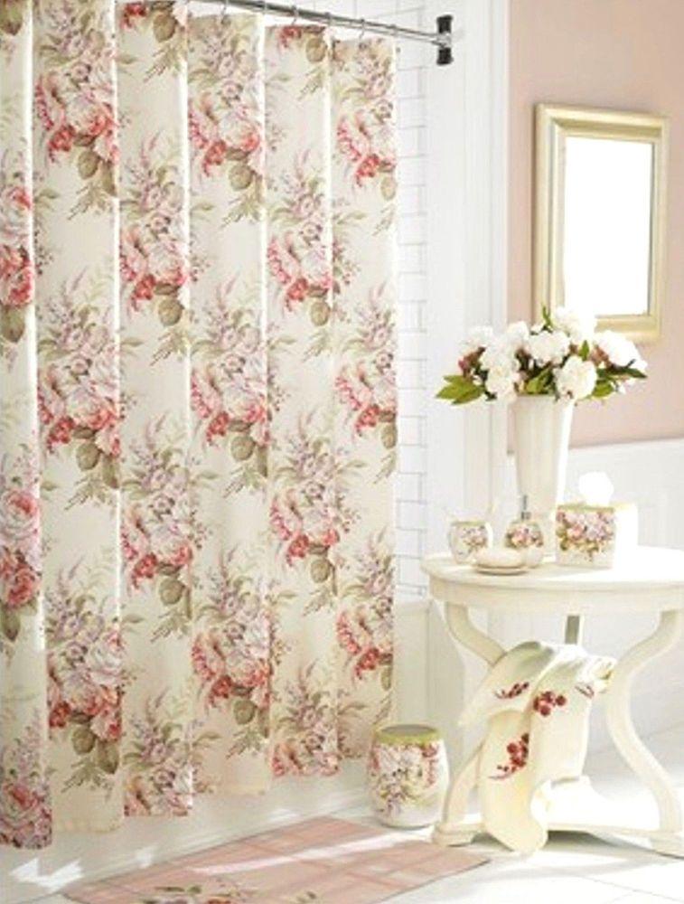 J Queen New York Shower Curtain Rosemoor Fabric Shower Curtain ...