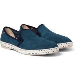 2d34480ecb8 Rivieras Sultan Suede Slip-on Shoes