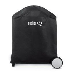 Weber 6552 Premium Grill Cover Fits Weber Q Q 200 And Q 220 With Cart Weber Bbq Accessories Grill Cover Bbq Accessories