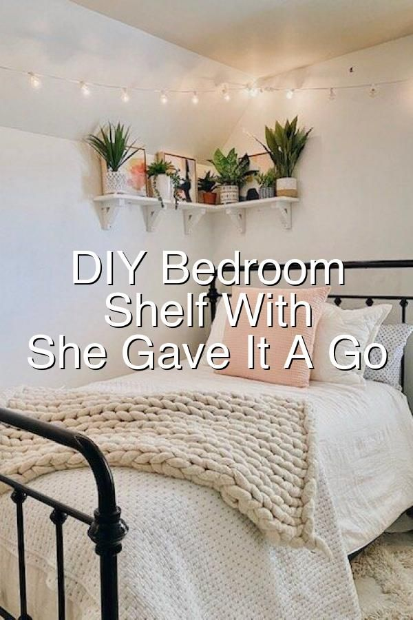 This was such a fun DIY and I share all the steps in this post so you can make one too   The faux summer plants arranged on the shelf create the perfect warmweather decor vibe for this bohoglam bedroom     prideinthemaking handmadewithjoann