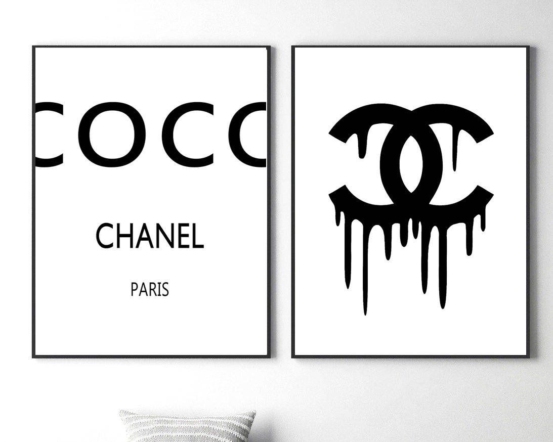 coco chanel prints coco chanel logo coco chanel wall art fashion coco chanel posters coco chanel. Black Bedroom Furniture Sets. Home Design Ideas