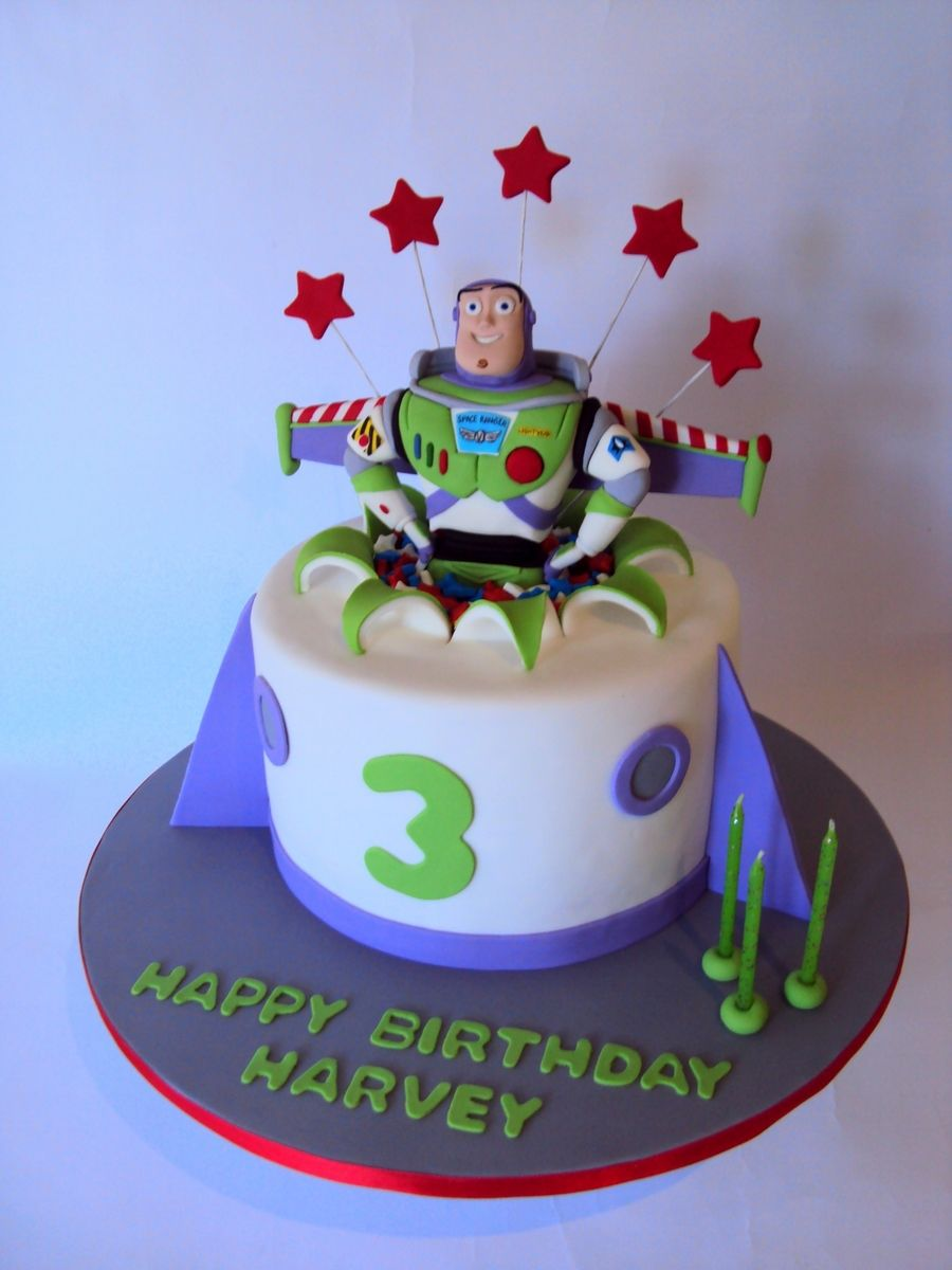 Amazing Buzz Lightyear Handmade Buzz Topper In A 8 Round Toy Story Funny Birthday Cards Online Inifofree Goldxyz