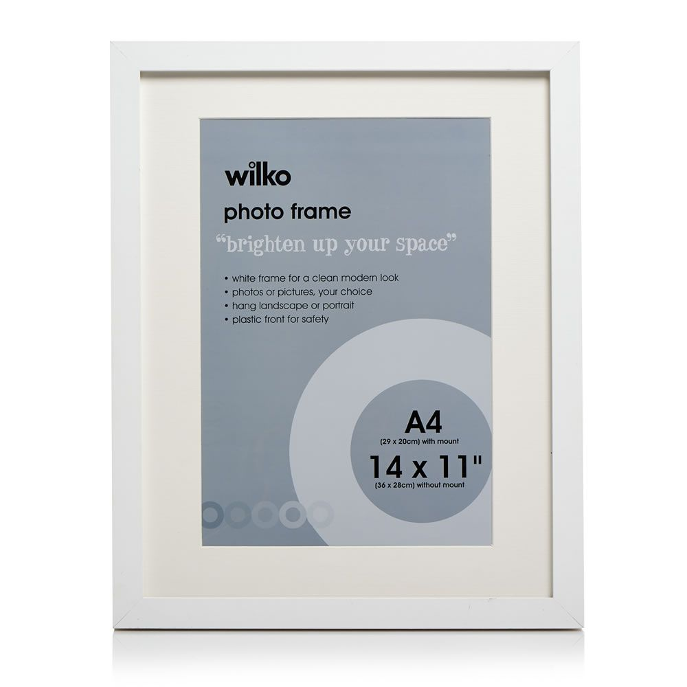 White Photo Frame 14 x 11in | White photo frames, Spare room and ...