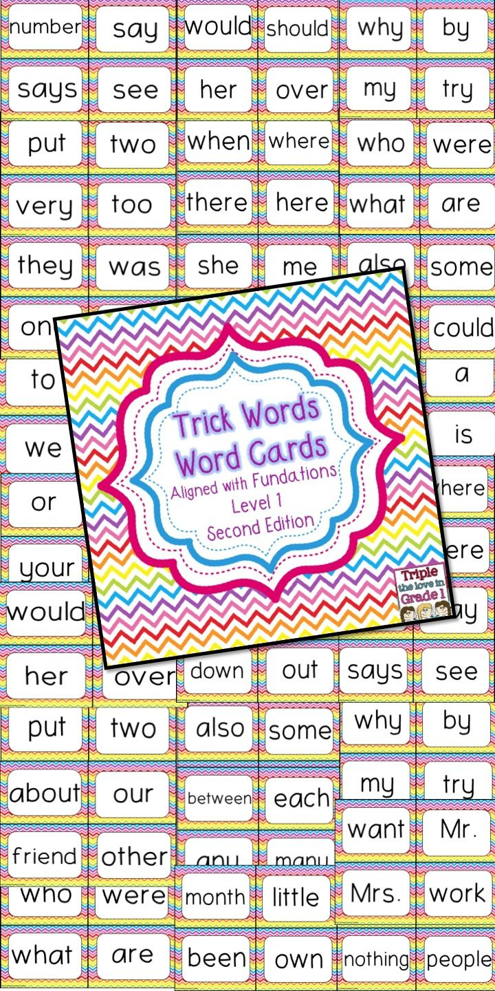 Worksheets Fundations Worksheets trick words aligned with the first grade 2nd edition fundations series perfect for word