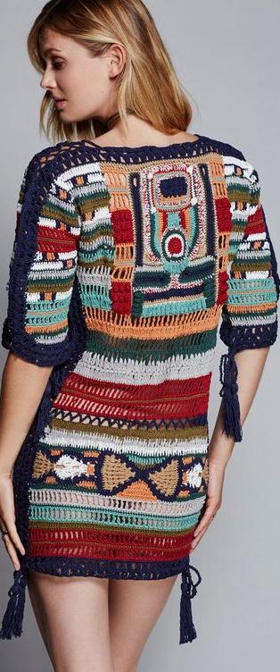 Free People Crochet De Forma Livre Moda Croche Desenhos De Croche