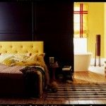Hmmm maybe a DIY mustard yellow tufted headboard? @Sarah Harburg, I may need your help on this one