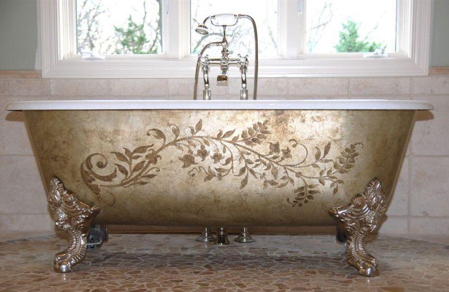Inside bathtub bathtub gray look clawfoot painting of dust jan ...