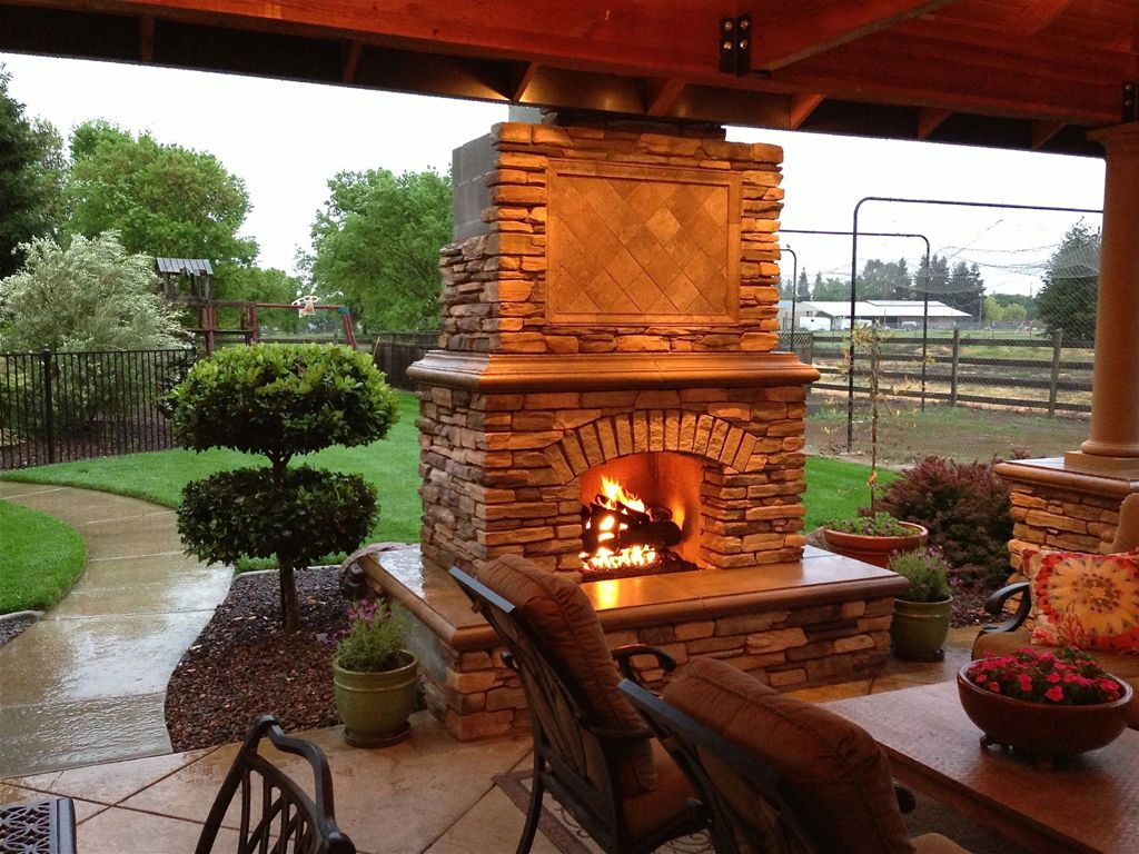 Brick outdoor fireplace diy with images outdoor