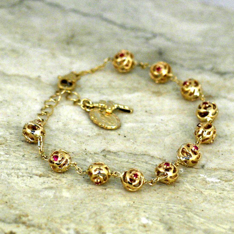 14k Gold Rosary Bracelet