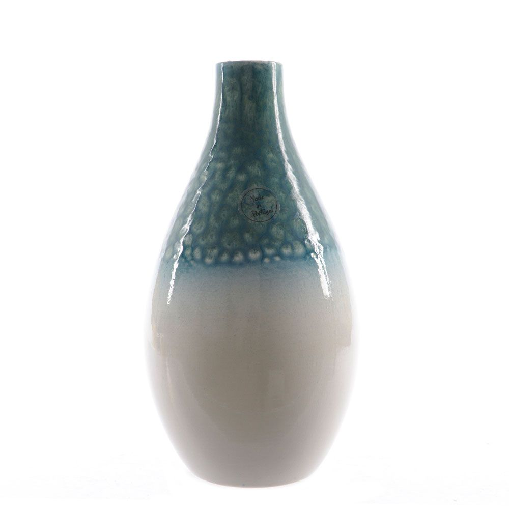 Blue Reactive Glaze Vase | Beautiful Earthenware vase made in Portugal