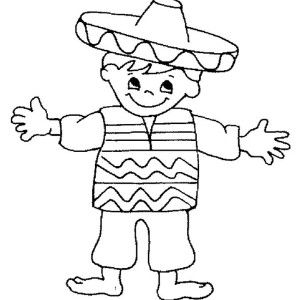 Mexican Boy Coloring Page Coloring Pages For Boys Coloring