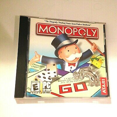 Monopoly (Atari 1997) Games box, Gaming computer