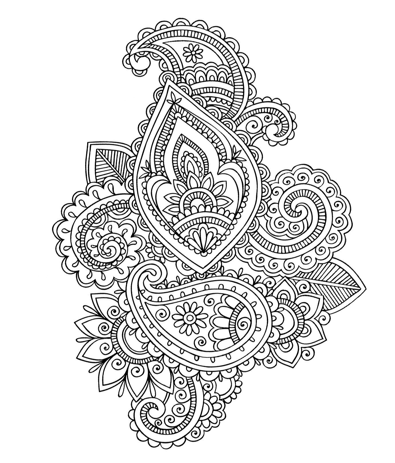 Adult Coloring Pages: Paisley 3 | Adult Coloring Pages | Pinterest ...