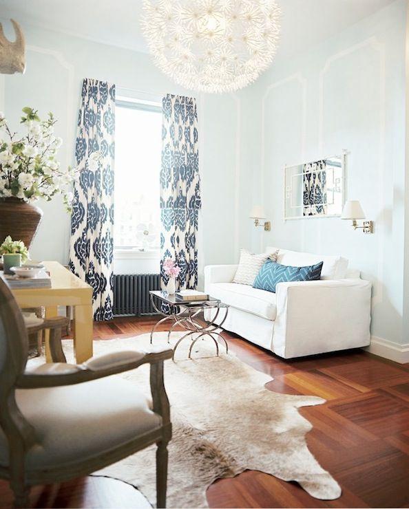 Kalah Blue Fabric Contemporary Living Room Lonny Magazine Home Decor Inspiration Home Decor Living Room Photos