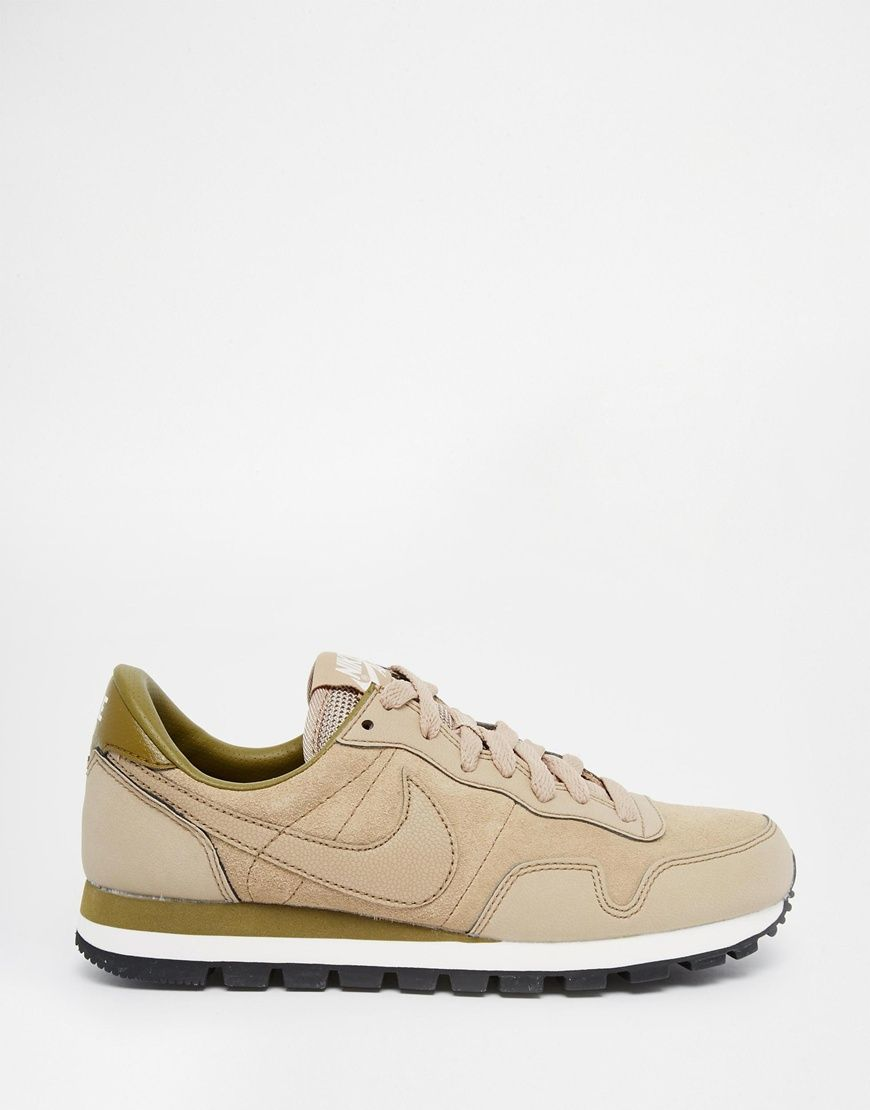 best cheap 2c894 38eb7 Image 2 of Nike Air Pegasus 83 Beige Leather Trainers