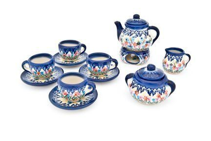 Polish Pottery Garden of Eden Miniature Tea Set >>> Click on the image for additional details.