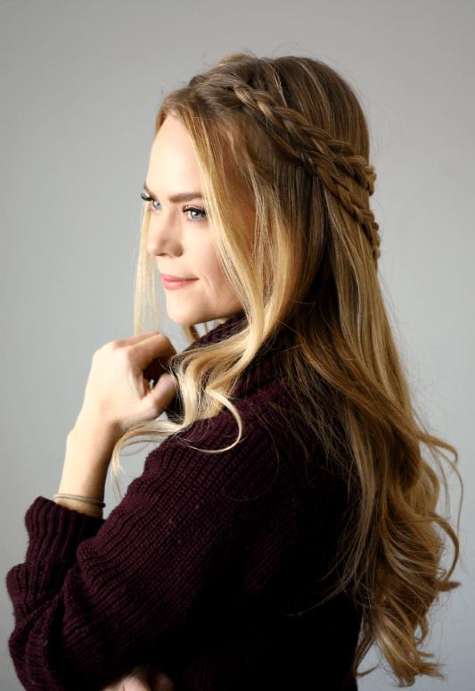 Bohemian Arrowhead Braid Braided Crown Hairstyles Cowgirl Hair Styles Box Braids Styling