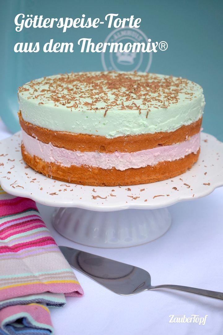 Erfrischende Gotterspeisetorte Rezept Thermomix Torten Thermomix Kuchen Und Thermomix Rezepte Kuchen