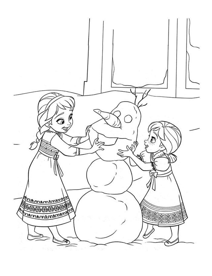 Disney Frozen Coloring Page 3 | Christmas Crafts | Pinterest ...