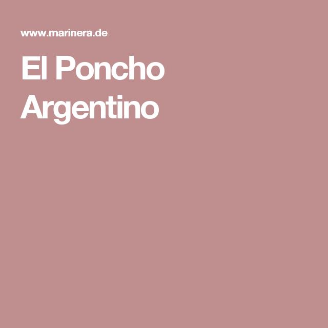 El Poncho Argentino