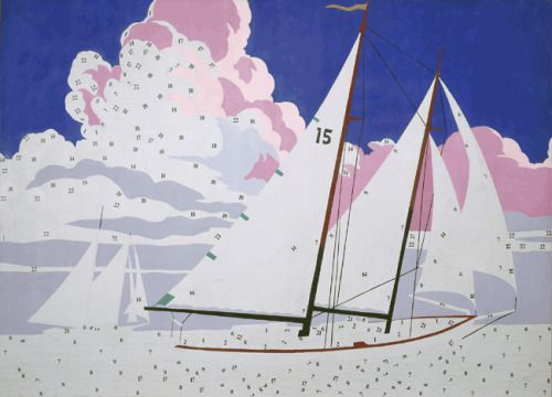 Andy Warhol, Do It Yourself (Sailboats), 1962