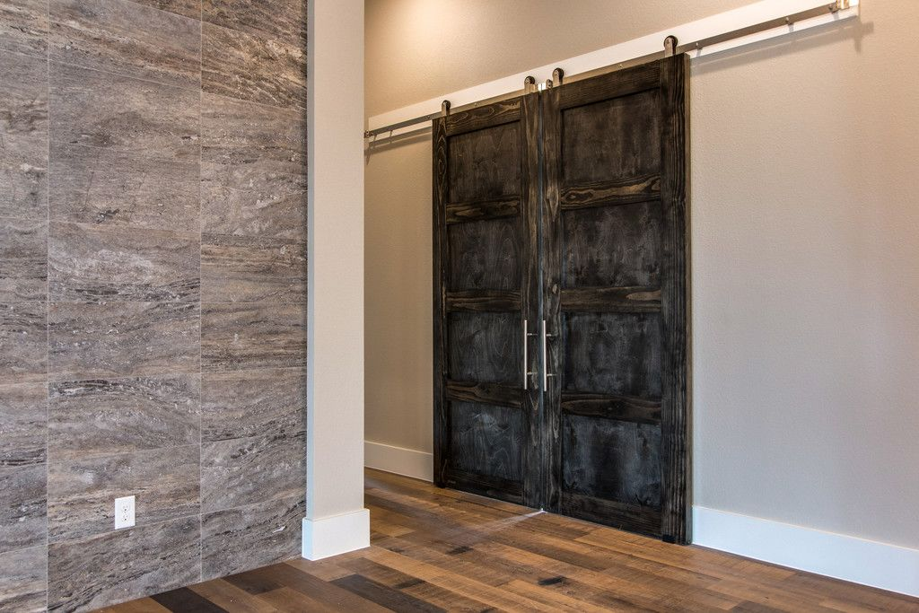 Barn Doors Ensure Privacy In The Study Dreamhome Interior