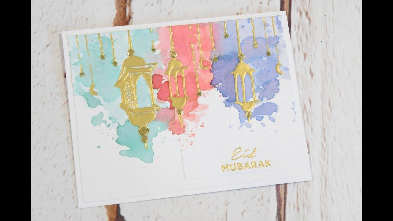 diy eid card hanging lanterns  youtube  hand embroidery