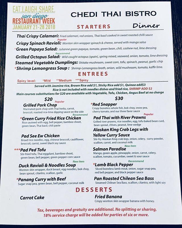 San Diego Restaurant Week Starts Today  Dinner Menu Three