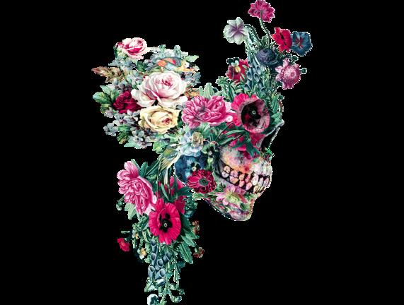 Skull Vii Dibujos Calaveras Dibujos Craneo Floral