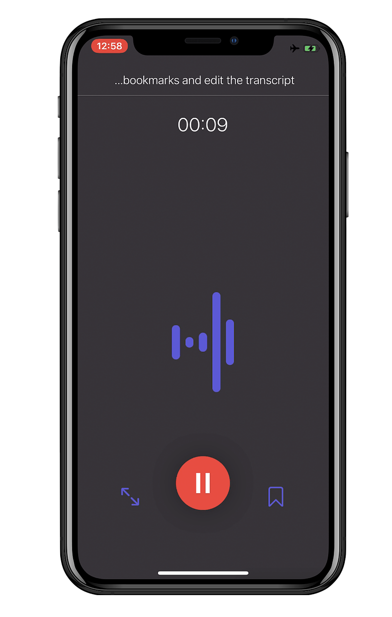 Dictation offers great live audio transcription on the