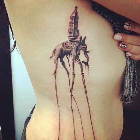 Tatuajes Henna El Salvador salvador dalí - this detail is incredible! i want this so bad but