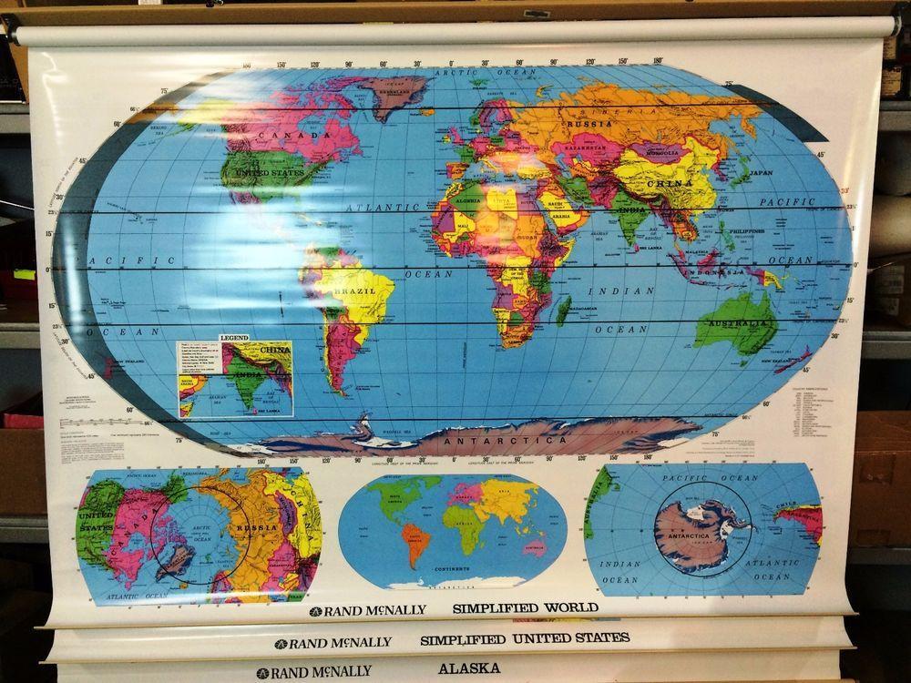 Rand Mcnally Political Pull Down Maps 3