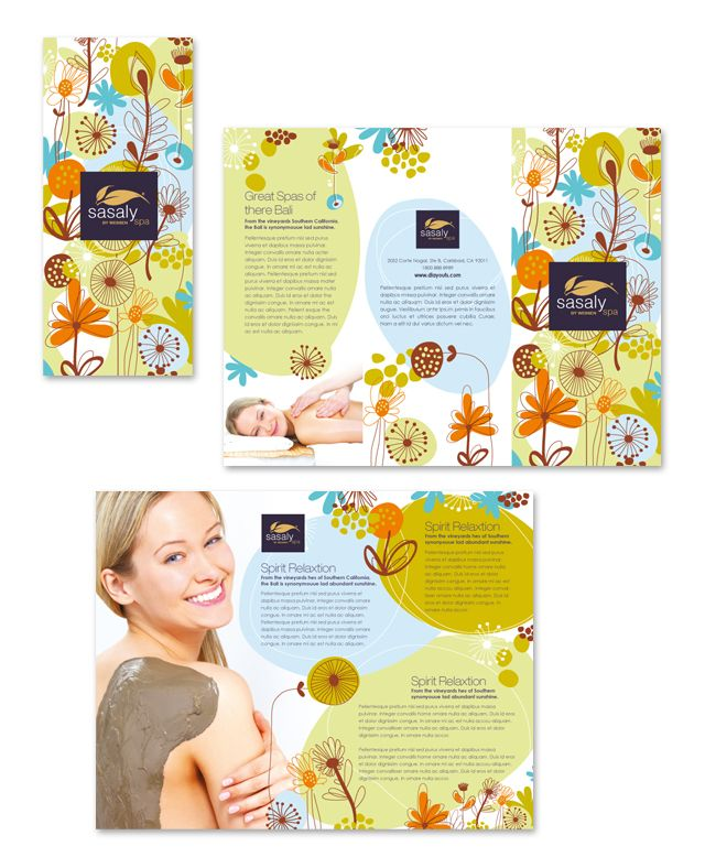 Beautiful Spa Brochure Design Cosmetic brochure design – Sample Spa Menu Template
