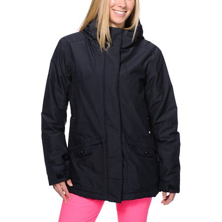 Pwdr Room Hotel Print Black 5k Snowboard Jacket Jackets Black