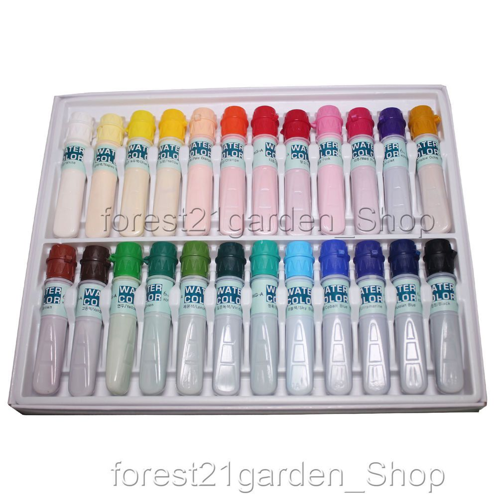 Dong A Artists Water Color Paint 6ml Tube 24 Colors Set Donga